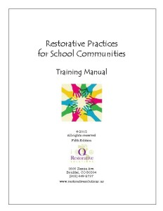 Cover Restorative Practices manual 5th edition